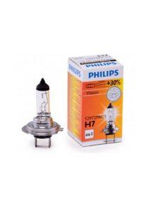 Bec auto cu halogen pentru far Philips H7 Vision, +30%, 12V, 55W
